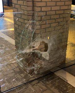 broken glass emergency