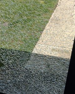 Spontaneous glass breakage